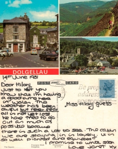 With love from Dolgellau