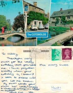 With love from the Cotswolds