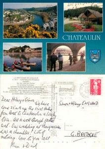 With love from Chateaulin, France 1992