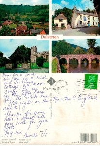 With love from Dulverton 1992