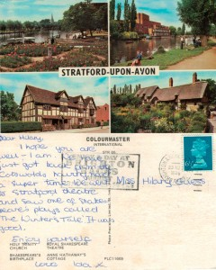 With love from Stratford-Upon-Avon 1976