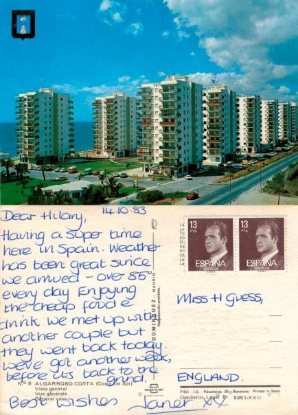 Costa del Sol Spain 1983